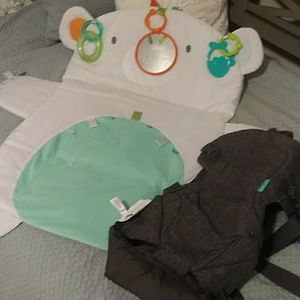 Bundle of baby play mat and carrier